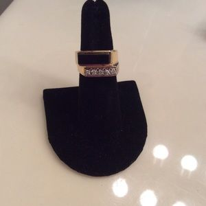 Other - Men's 14k Diamond & Onyx Ring